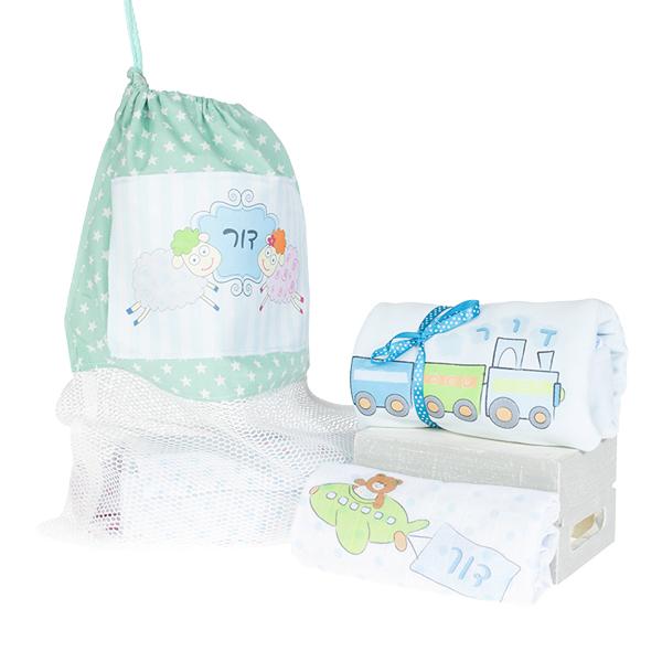 חבילת לידה לבן